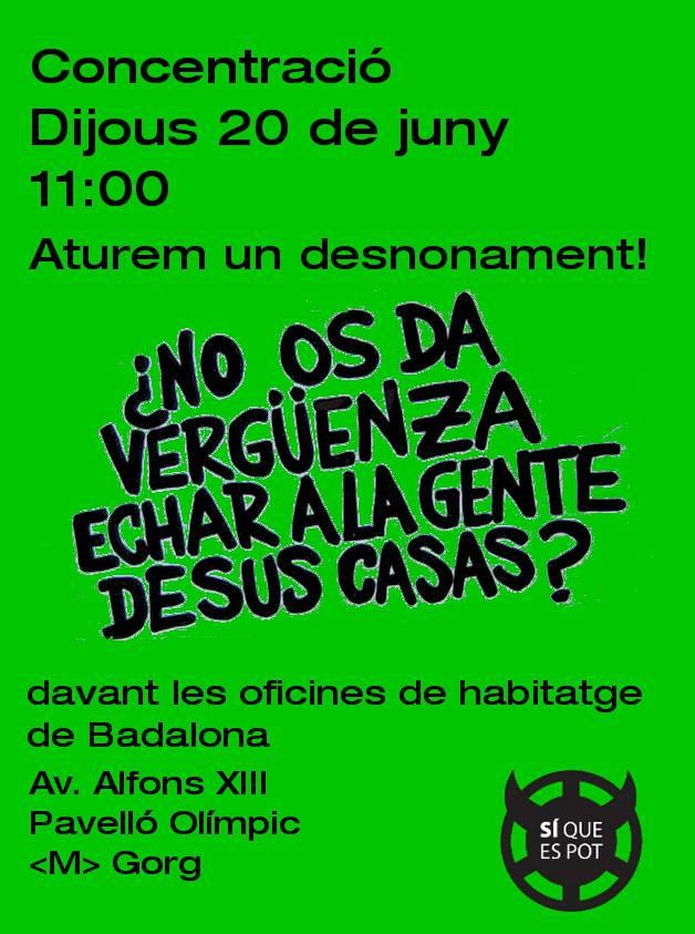 Badalona acci contra els desnonaments associaci 500 20 for Oficina habitatge girona