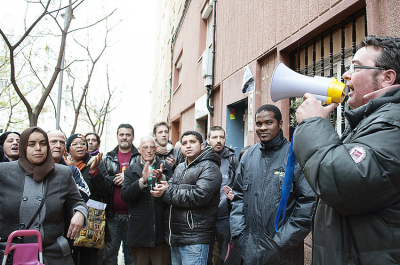 Batucada dilluns 7 abril contra els desnonaments a nou for Oficina habitatge girona